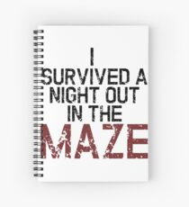 I survived the Maze Spiral Notebook