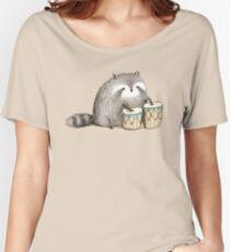 Raccoon on Bongos Women's Relaxed Fit T-Shirt