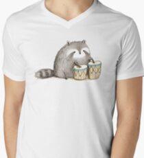 Raccoon on Bongos T-Shirt