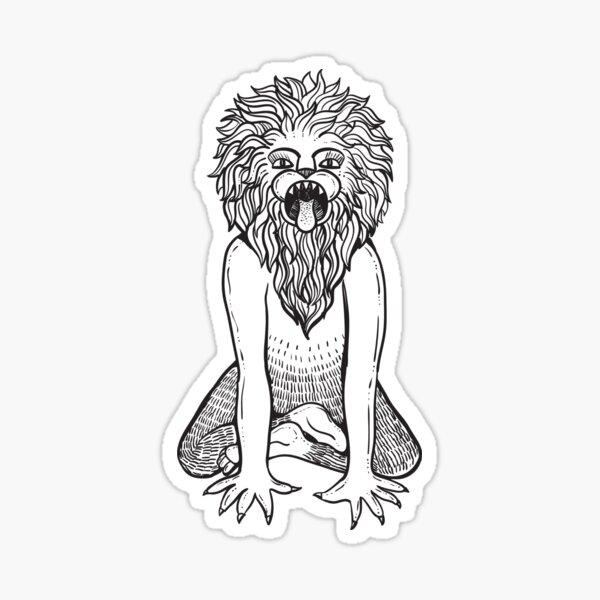 Lion Pose / Simhasana Sticker