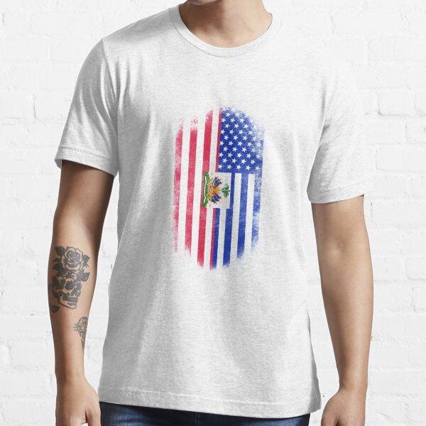 Haitian American Flag   Haiti and USA Design Essential T-Shirt