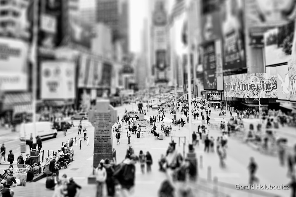 On Times Square  by Gerald Holubowicz