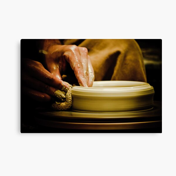 Wheel Turned Pottery Canvas Print