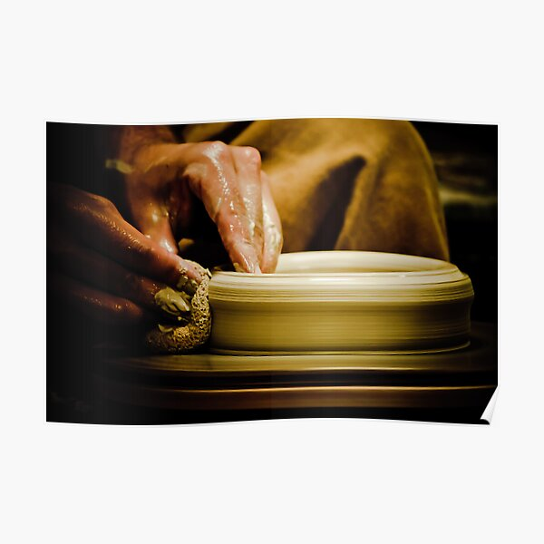 Wheel Turned Pottery Poster