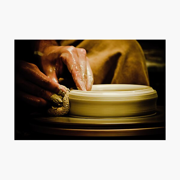 Wheel Turned Pottery Photographic Print