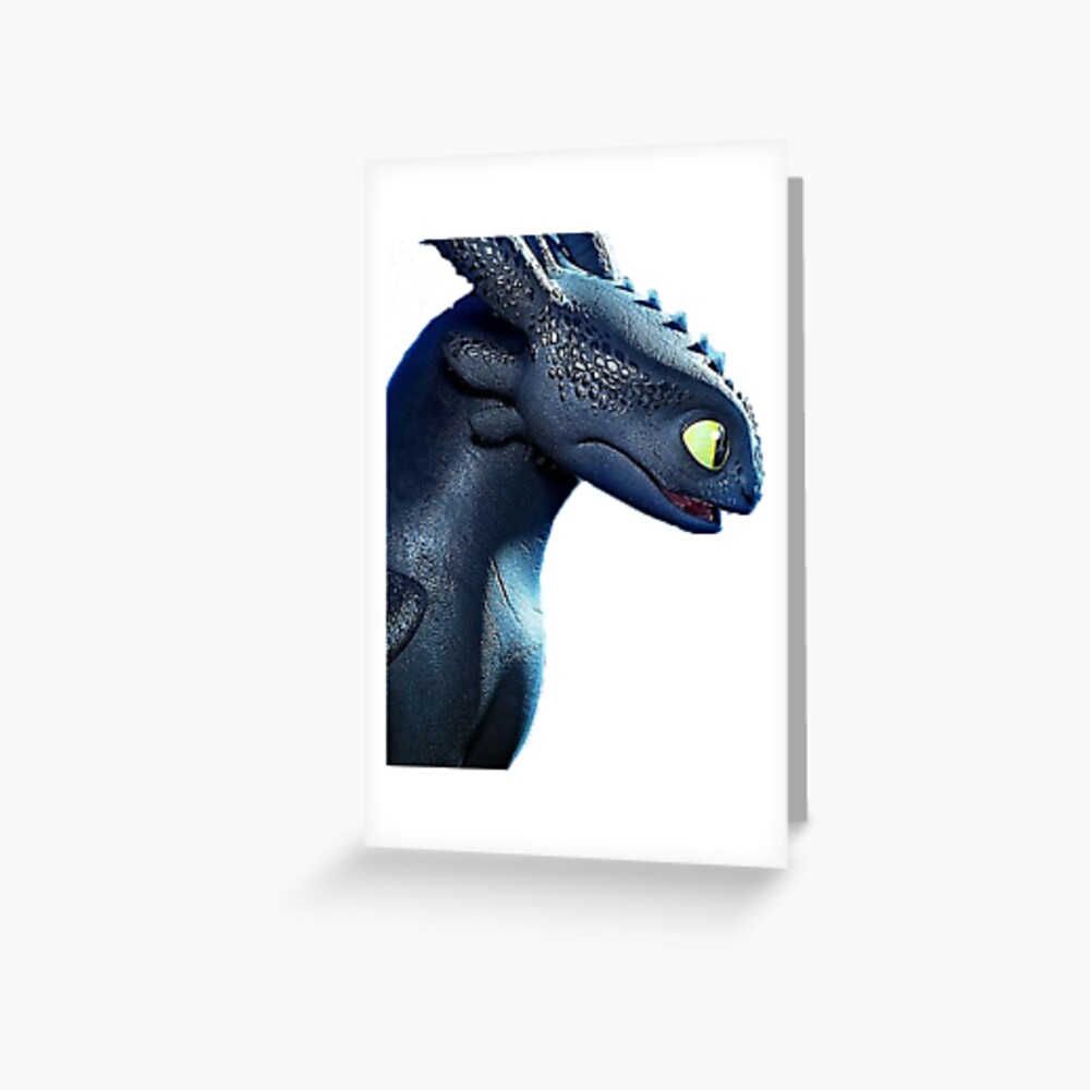 Night Fury How to Train Your Dragon 3 Greeting Card
