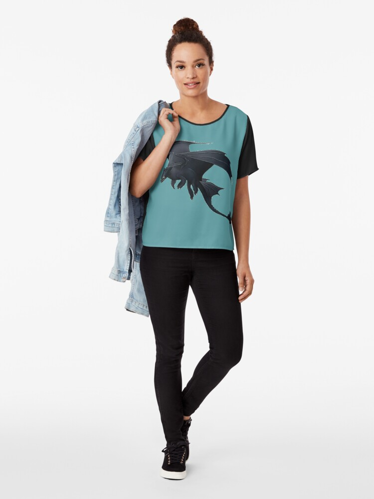 Alternate view of How to Train Your Dragon 3 Chiffon Top