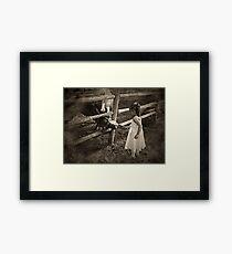 The Flower Girl's Job Framed Print