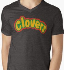 Clovers Bring It On Uniform Symbol Men's V-Neck T-Shirt