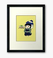 Teen Sherlock - Go Away! I'm in my mind palace! Framed Print