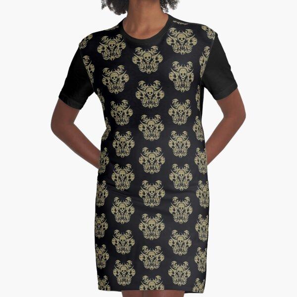 SKULL TRIBAL GOLDOPTIK T-Shirt Kleid