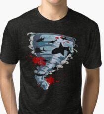 Shark Tornado - Science Fiction Shark Movie - Shark Attack - Shark Tornado Oh Hell No - Sharks! Tri-blend T-Shirt