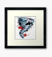Shark Tornado - Science Fiction Shark Movie - Shark Attack - Shark Tornado Oh Hell No - Sharks! Framed Print