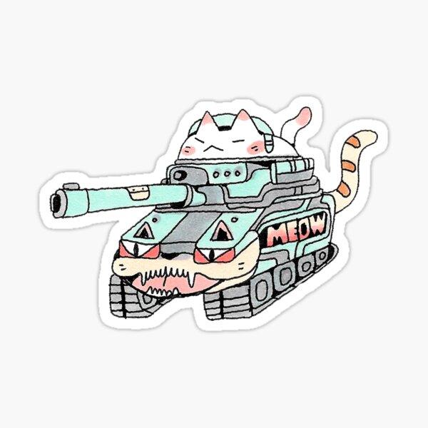Tank Cat Sticker