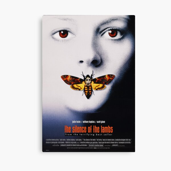 The Silence of the lambs movie poster Canvas Print