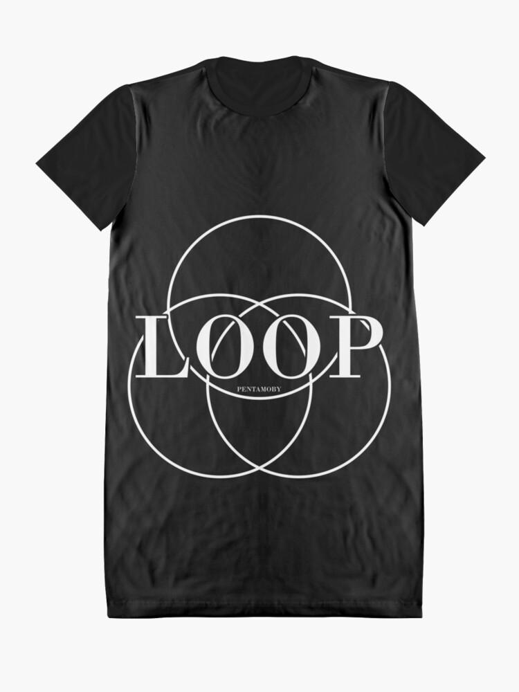 Alternate view of LOOP CIRCLE FASHION (w) Graphic T-Shirt Dress
