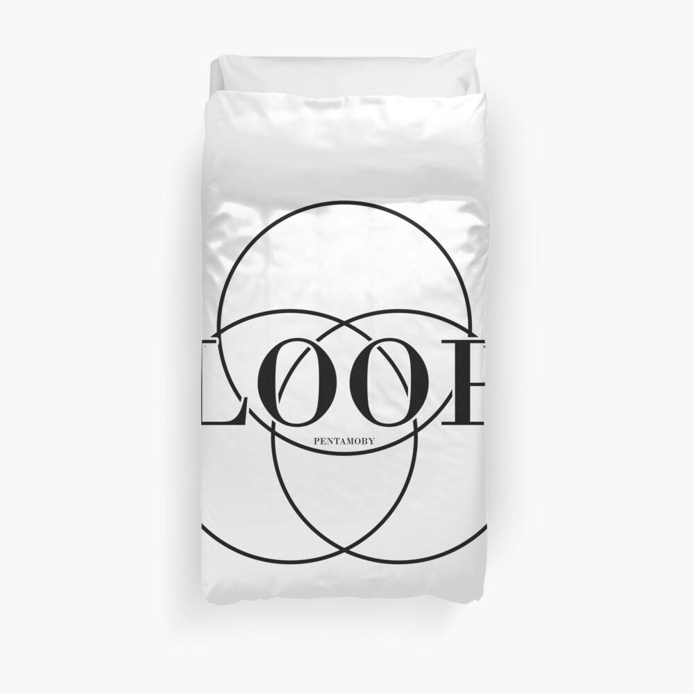 LOOP CIRCLE FASHION (b) Duvet Cover