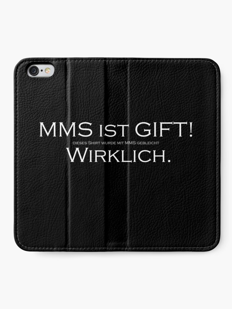 Alternate view of MMS is POISON (w) iPhone Wallet