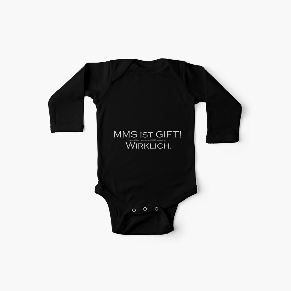 MMS is POISON (w) Baby One-Pieces