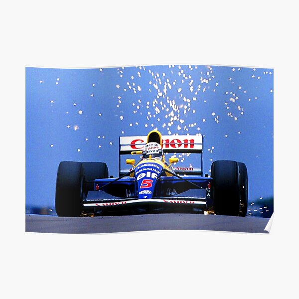 Nigel Mansell in his 1991 Williams Renault Poster