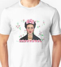 Frida in the Flowers Tee Unisex T-Shirt