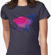 Bisexuwhale - mit Text Tailliertes T-Shirt für Frauen