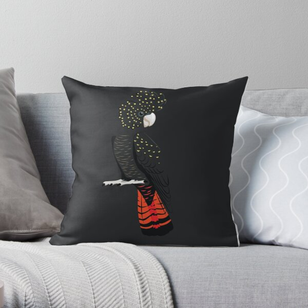 Red-tailed blackcockatoo Throw Pillow