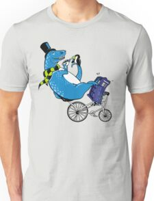 Tandem T-Rex with Toucan and Tea while Tardis Toils T-Shirt