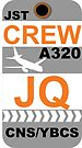 JQ A320 Crew Cairns by AvGeekCentral