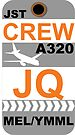 JQ A320 Crew Melbourne by AvGeekCentral