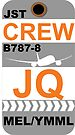 JQ Boeing 787-8 Dreamliner Crew Melbourne by AvGeekCentral