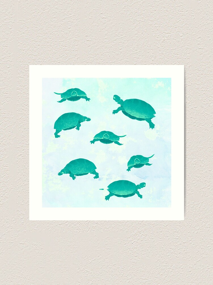 Alternate view of Song of the turtle- save our seas Art Print