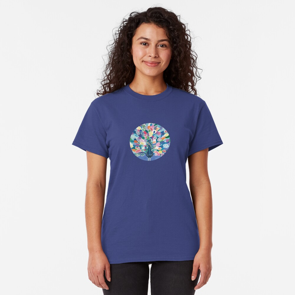 Rainbow Peacock Classic T-Shirt