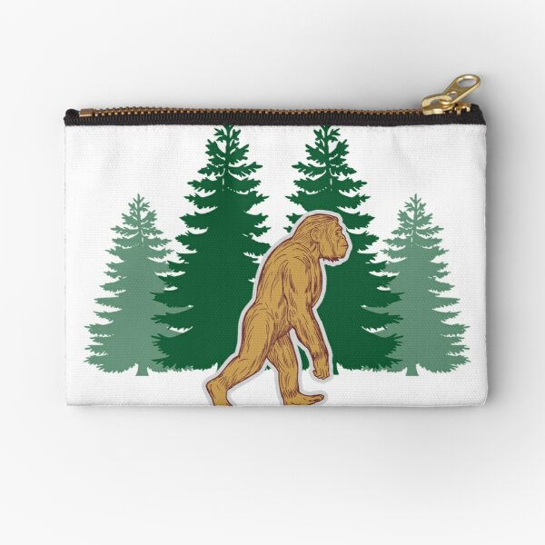 Bigfoot Hide and Seek Coin Purse Little Pouch
