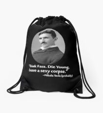 Sexy Tesla 01 Drawstring Bag