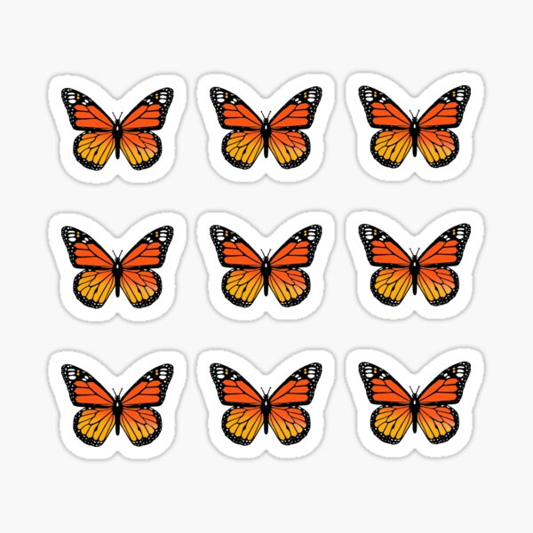 Monarch Butterfly Pack Sticker