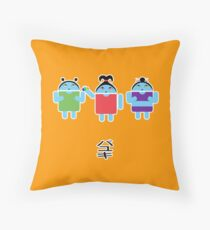 Droidarmy: Fruity Oaty Droids Throw Pillow