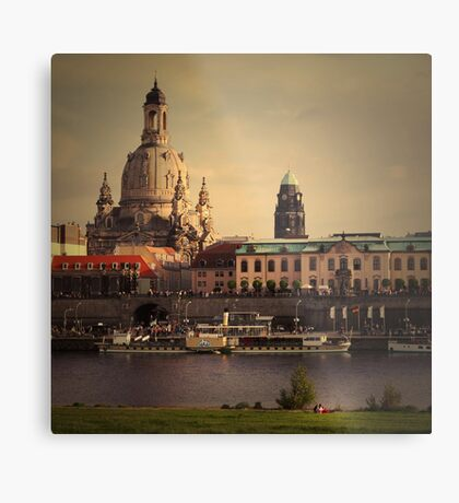 The City In Your Head - Dresden Metal Print