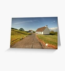 Thatched cottages Greeting Card