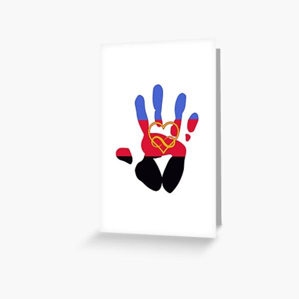 Polyamorous Pride Handprint Greeting Card