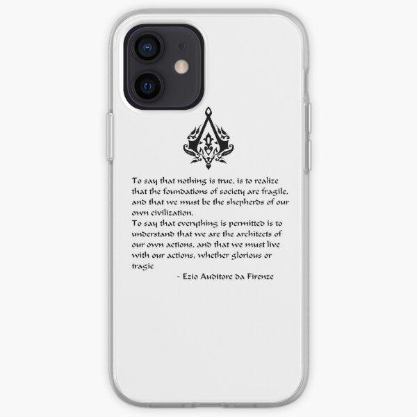 Nada es cierto, todo está permitido (letras negras) Funda blanda para iPhone