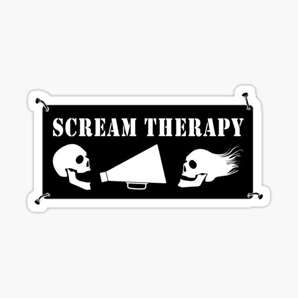 Scream Therapy - dark Sticker