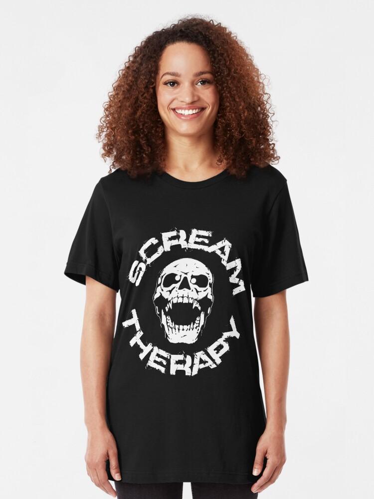 Alternative Ansicht von Scream Therapy - cross eyed skull white Slim Fit T-Shirt