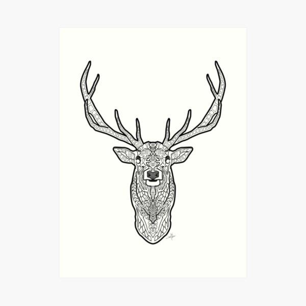 Norse Elk Art Print