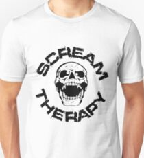 Scream Therapy - cross eyed skull black Slim Fit T-Shirt