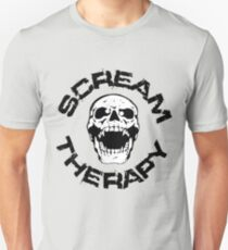 Scream Therapy - cross eyed skull filled Slim Fit T-Shirt