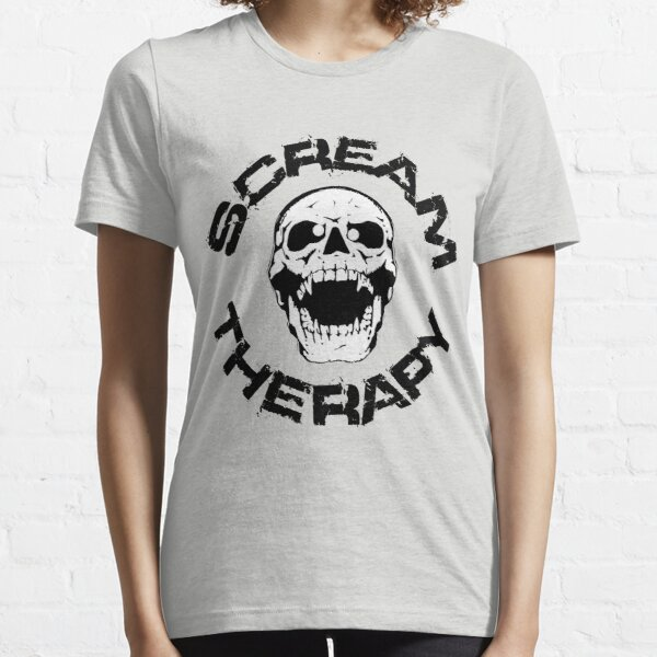 Scream Therapy - cross eyed skull filled Essential T-Shirt
