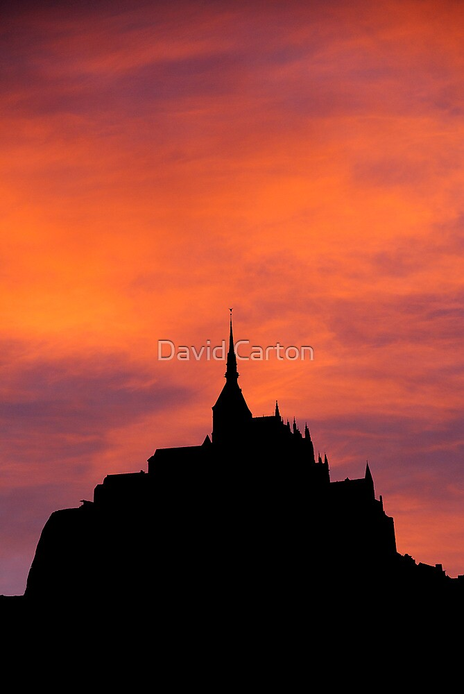 Mont-Saint-Michel silhouette, France by David Carton