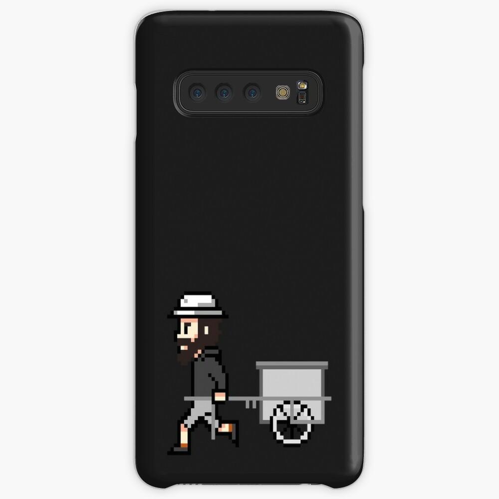 The Longest Pixel (black) Hülle & Klebefolie für Samsung Galaxy