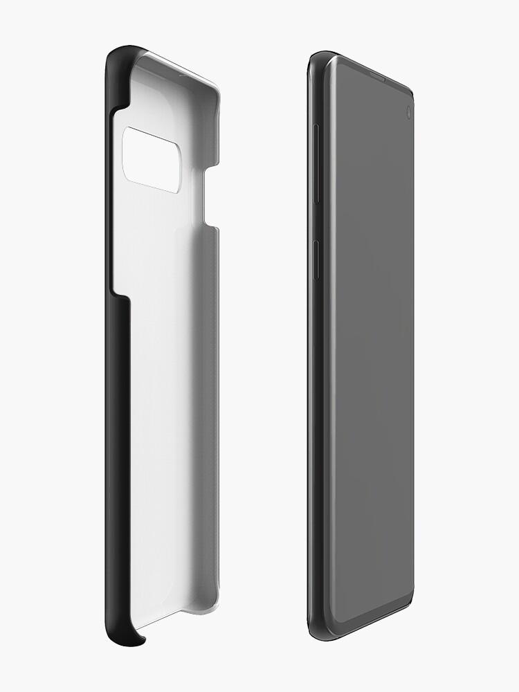 Alternative Ansicht von The Longest Pixel (black) Hülle & Klebefolie für Samsung Galaxy